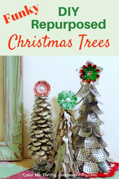 Fun & Funky DIY Christmas trees made from repurposed materials