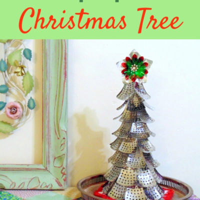 Funky DIY Repurposed Christmas tree from folding metal steamer parts