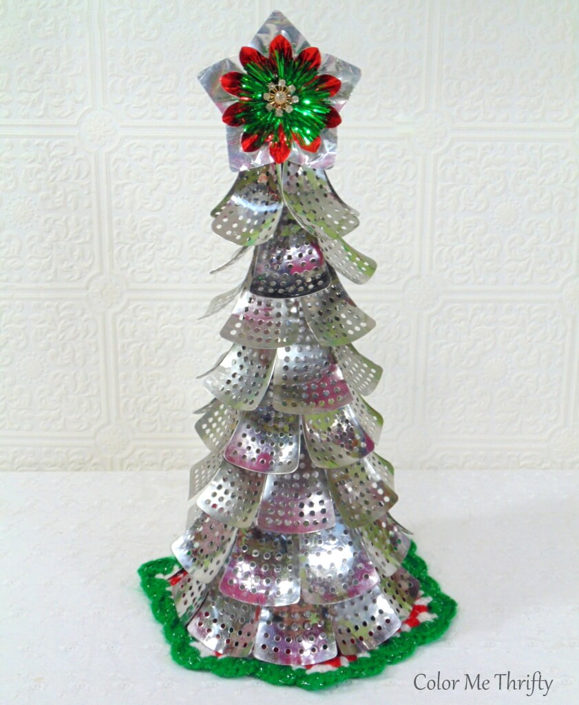 diy repurposed Christmas tree from metal folding steamer parts 3