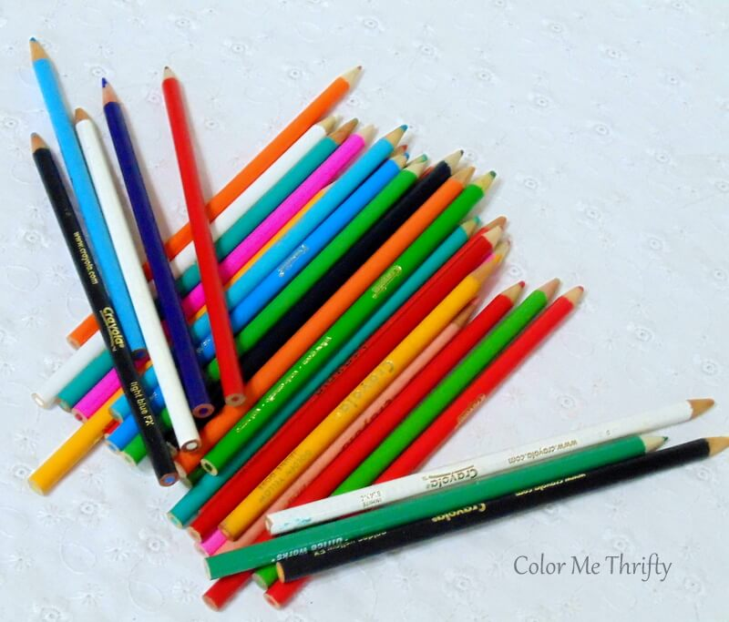 pencils crayons of different colors