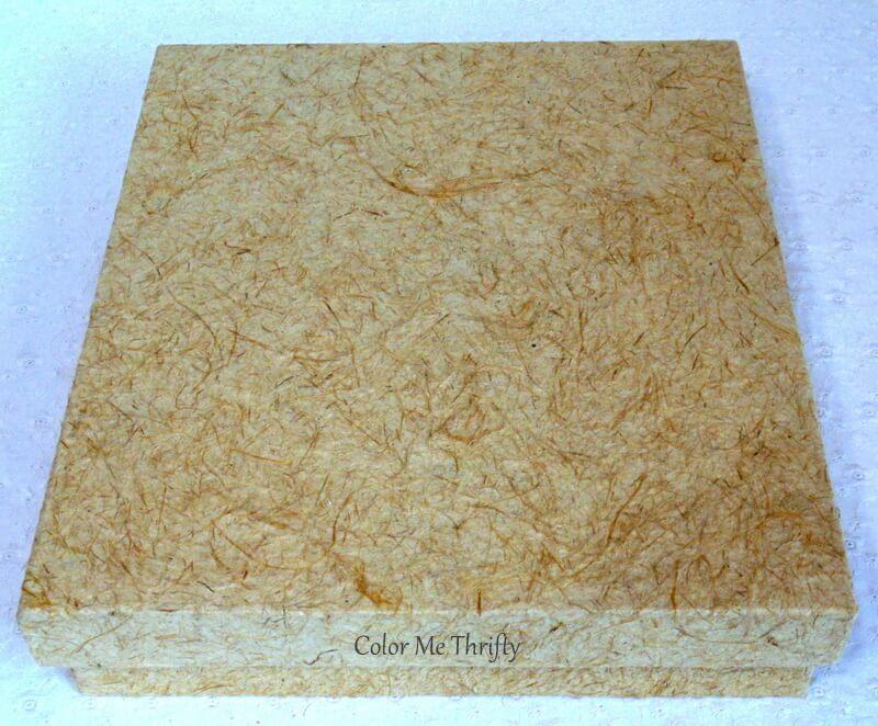 handmade paper photo album box