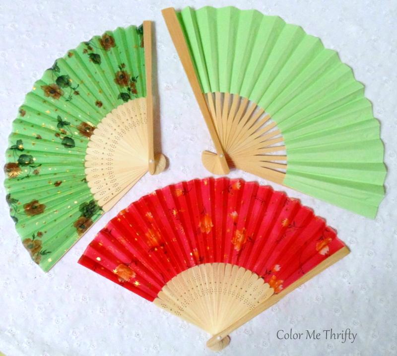 paper hand folding fans