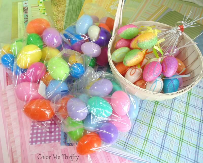 thrifted lot of plastic easter eggs