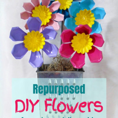 DIY flowers from vintage aluminum repurposed jello molds