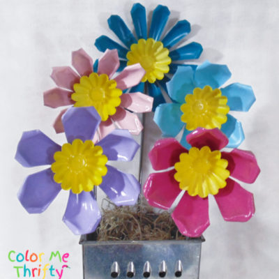 Repurposed Jello Molds into Fun Flowers