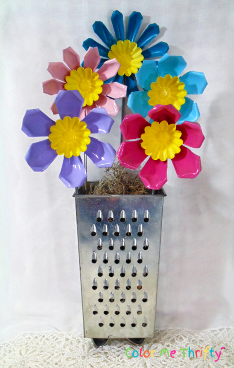 Repurposed jello molds made into fun and colorful flowers