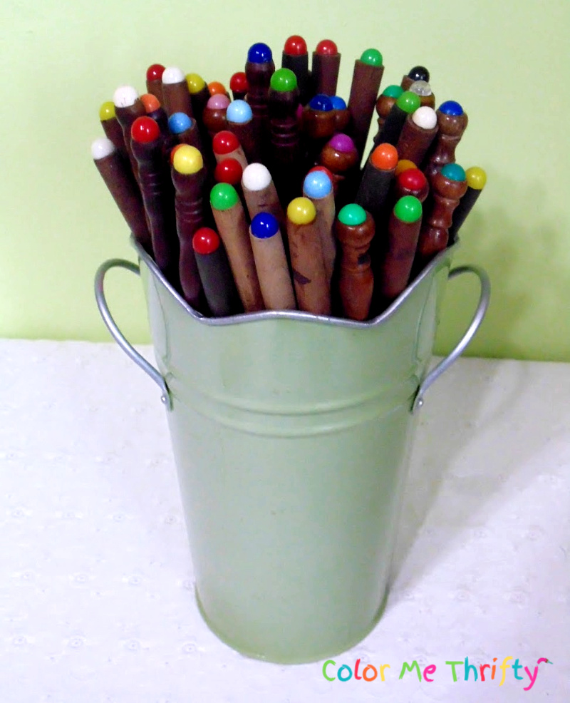 collection of fondue forks used as stems for jello mold flowers