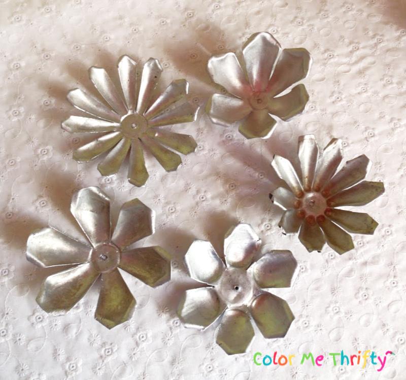 vintage aluminum jello mold flowers