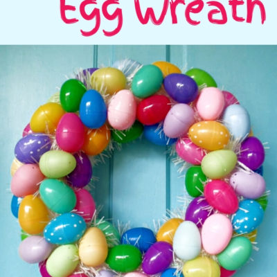 Create an easy Easter egg wreath that is fun and colorful