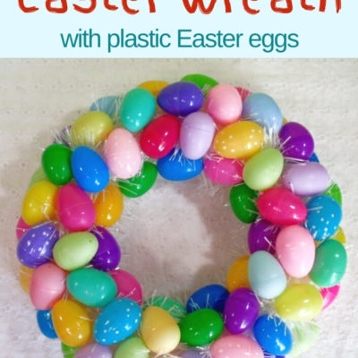 Creating an Easter egg wreath is fun and easy and will add some color to your Easter decor.