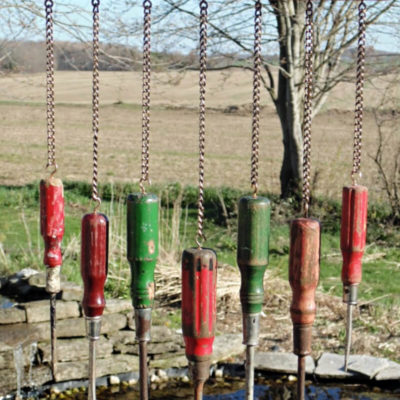 Repurposed Screwdrivers DIY Windchime