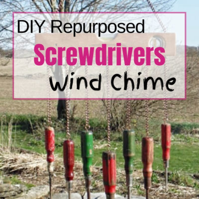 Create a fun diy wind chime using repurposed screwdrivers and vintage level