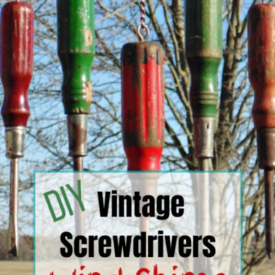 How to create a fun diy wind chime by repurposing wooden screwdrivers and wooden level