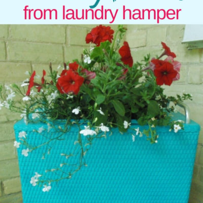 Quick & Easy Reprupsoed Laundry Hamper Planter Makeover