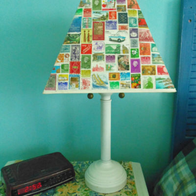 Decoupaged Lampshade Makeover