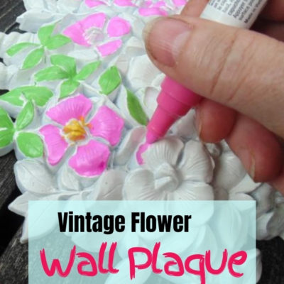 Easy and fun makeover of vintage plastic resin Syroco flowal wall plaques