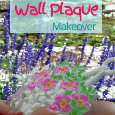 Easy and fun makeover of vintage plastic resin Syroco flower wall plaques