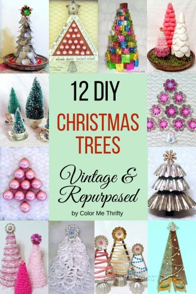 12 DIY Christmas Tree Projects Vintage and Repurposed