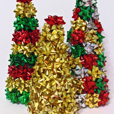 Quick & Easy DIY Repurposed Gift Bow Trees