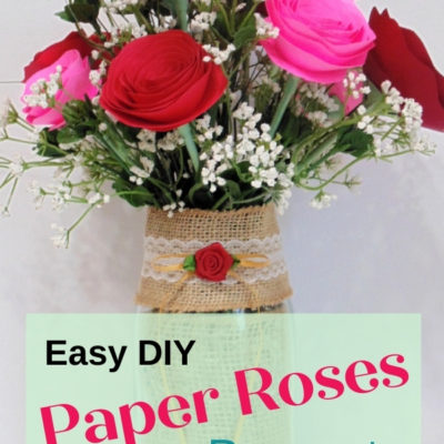 How to create an easy DIY paper roses bouquet