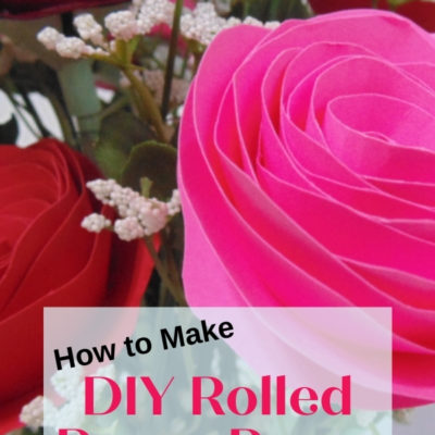 How to make a DIY Rolled Paper Roses Bouquet