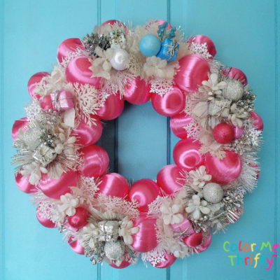 DIY Pink Winter Wreath for the New Year