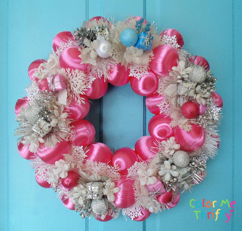 Quick & Easy DIY Pink Winter Wreath for New Year door decor