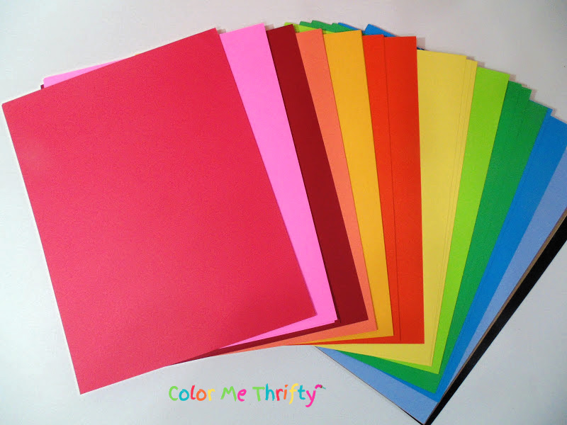 cardstock paper in various colors