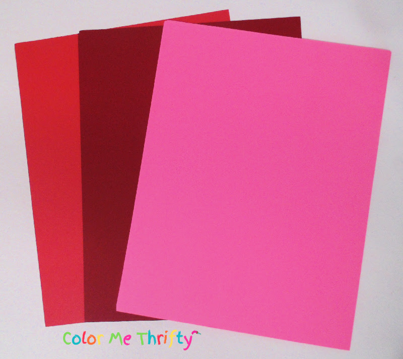 red, burgundy, and pink cardstock paper for diy paper roses