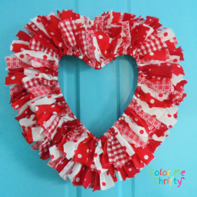 How to Create an Easy DIY Heart Rag Wreath