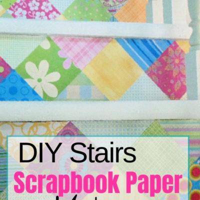 How to DIY a stairs makeover with scrapbook paper
