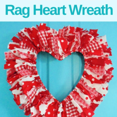 How to create an easy DIY double sided rag heart wreath for Valentine's Day