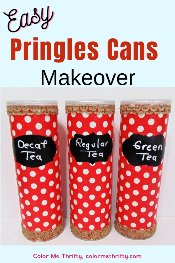 How to create some fabulous kitchen storage with an easy Pringles can makeover