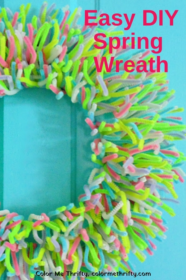 Easy DIY Spring Wreath from Pipe Cleaners