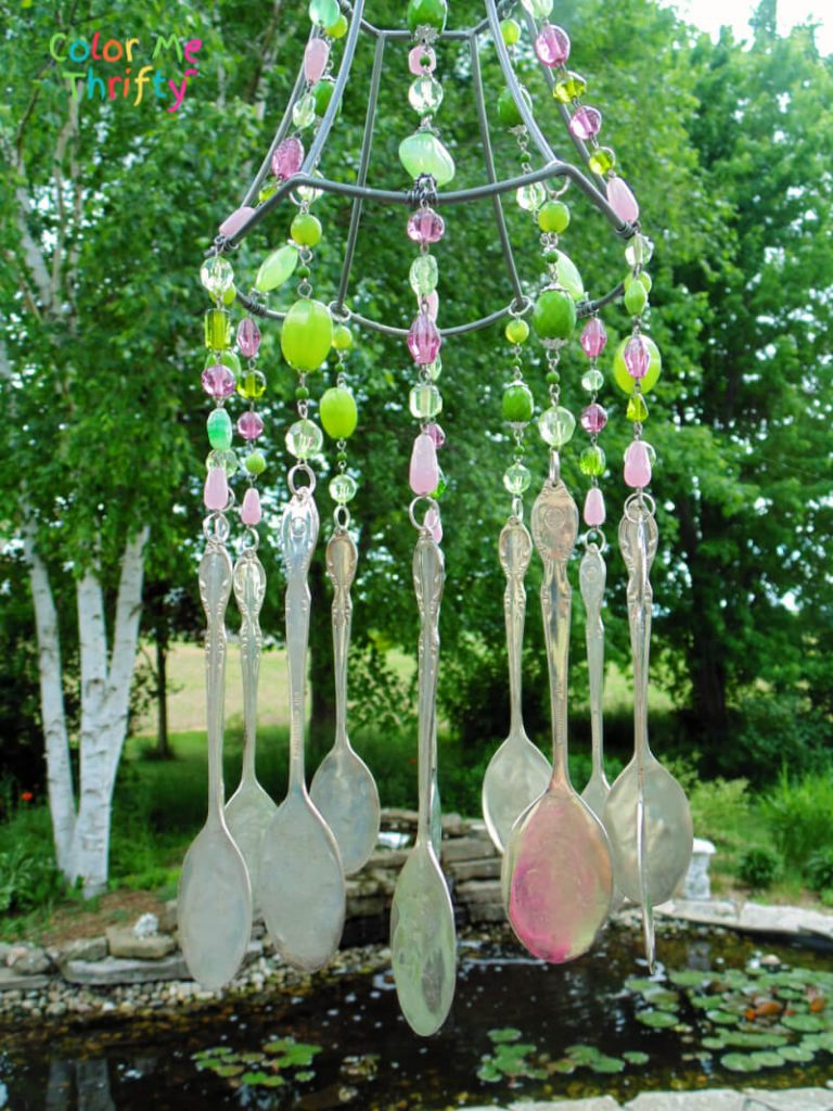 How to create a lampshade wind chime