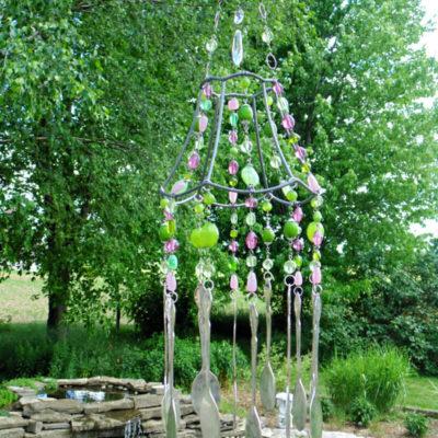 Repurposed Lampshade Wind Chime