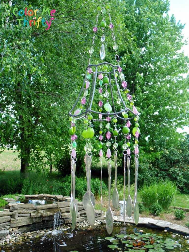 How to create a repurposed lampshade wind chime