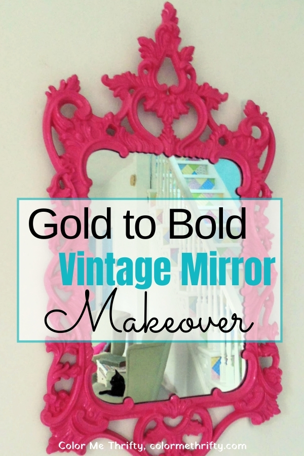 From gold to bold vintage mirror makeover