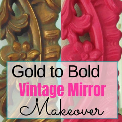 Give a vintage gold mirror a fun makeover with spray paint to match any decor style