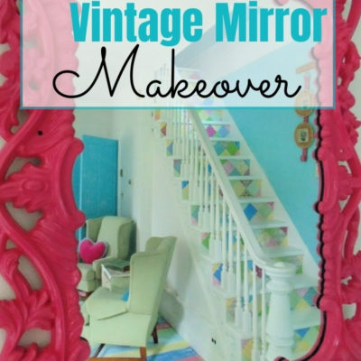 Give a vintage gold mirror a fun update with spray paint to match any decor style 2