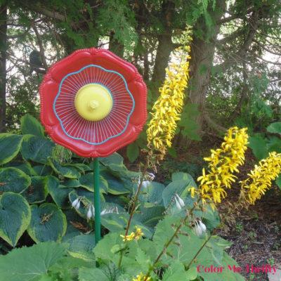 Garden Art Flower from Thrift Store Finds