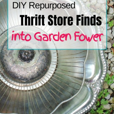 How to make a garden art flower from three inexpensive thrift store items