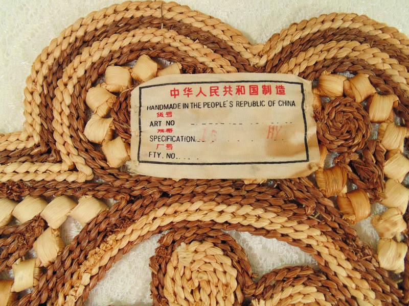 2 Vintage hand woven large potholders 2