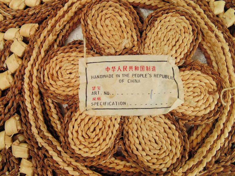 2 Vintage hand woven large potholders 3