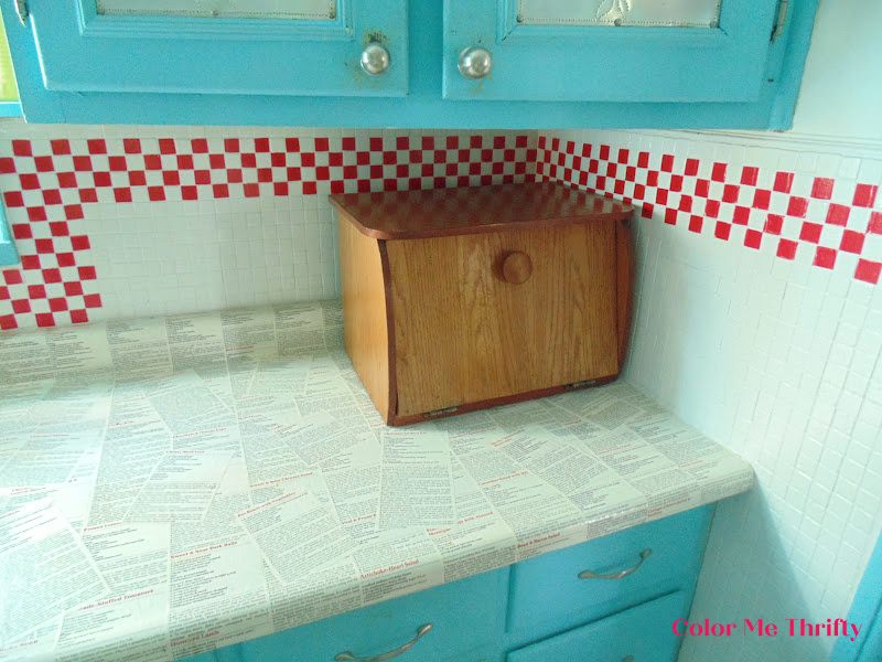 Before of wooden bread box before makeover 1