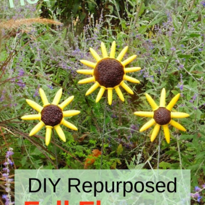 How to create DIY repurposed fall flowers for your garden from corn holders