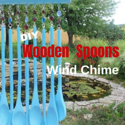 How to create a fun wooden spoons wind chime using a wooden rolling pin and dollar store wooden spoons