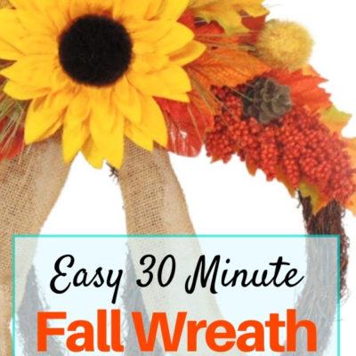 How to create an easy 30 minute grapevine pumpkin fall wreath