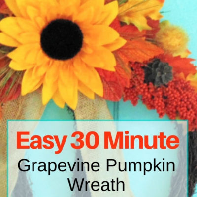How to create an easy grapevine fall pumpkin wreath in just 30 minutes