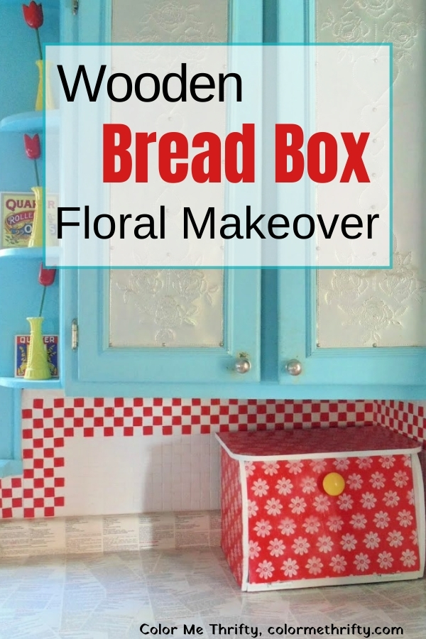 This wooden bread box makeover is fun and easy using lace as a stencil and spray paint